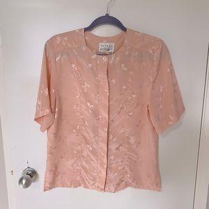 Vintage Peters & Ashley short sleeve pink blouse.